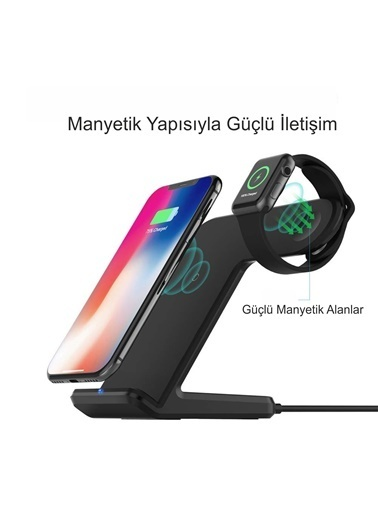 Mcstorey Wireless İphone Watch Şarj Stand Renkli